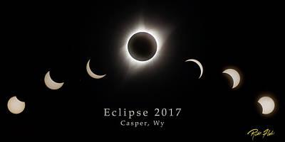 Photograph - Solar Eclipse Collage 2 by Rikk Flohr