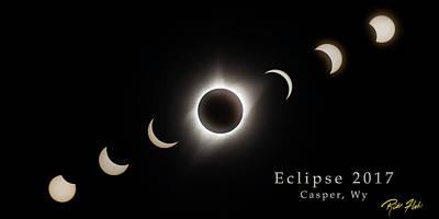 Photograph - Solar Eclipse Collage 3 by Rikk Flohr
