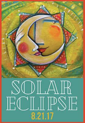 Cbs Sunday Morning Painting - Solar Eclipse Commemorative by Toni Brou