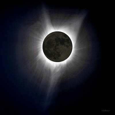 Total Eclipse Of The Sun Photograph - Solar Eclipse Corona by Judi Dressler