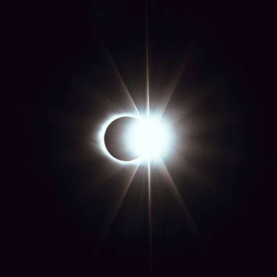 Painting - Solar Eclipse, Diamond Ring 2 by Celestial Images