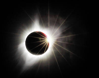 Photograph - Solar Eclipse Diamond Ring by Angie Vogel