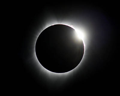 Photograph - Solar Eclipse Diamond Ring by John King