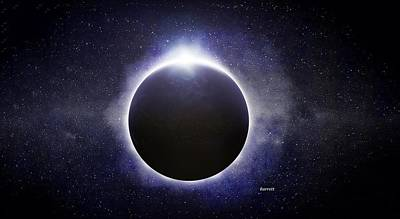 Solar Eclipse Painting - Solar Eclipse by Don Barrett