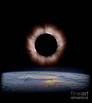 Photograph - Solar Eclipse From Above The Earth by Doc Braham