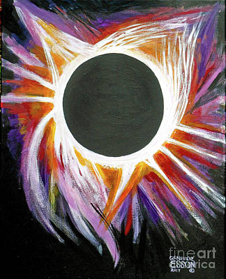 Painting - Solar Eclipse by Genevieve Esson