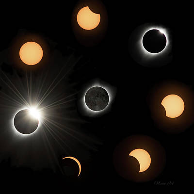 Digital Art - Solar Eclipse  by OLena Art Brand
