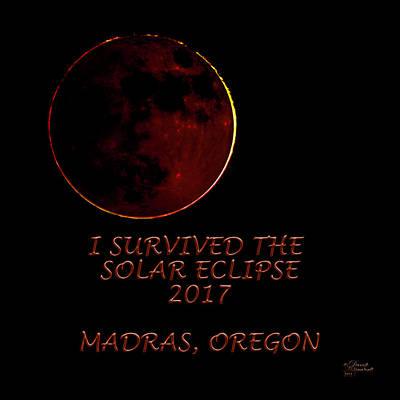 Photograph - Solar Eclipse Madras Oregon by David Millenheft