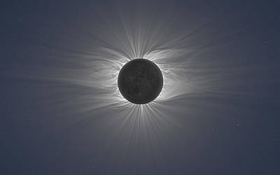Black Digital Art - Solar Eclipse by Maye Loeser
