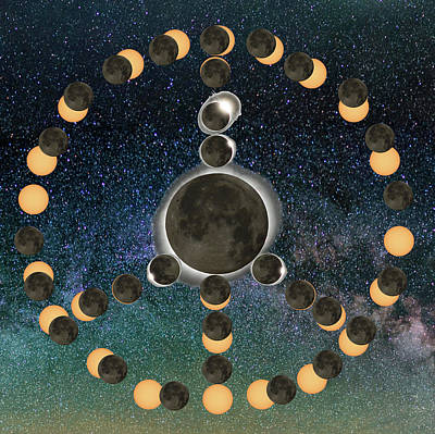 Digital Art - Solar Eclipse  Peace On Earth 2 by OLena Art Brand