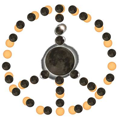 Digital Art - Solar Eclipse Peace On Earth by OLena Art Brand
