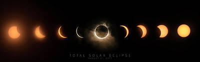 Photograph - Solar Eclipse Progression-titled by Ryan Heffron