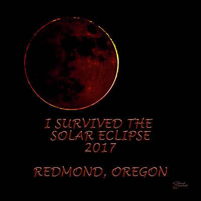 Photograph - Solar Eclipse Redmond Oregon by David Millenheft