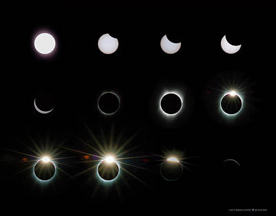 Photograph - Solar Eclipse Sequence 2017 by Doug LaRue