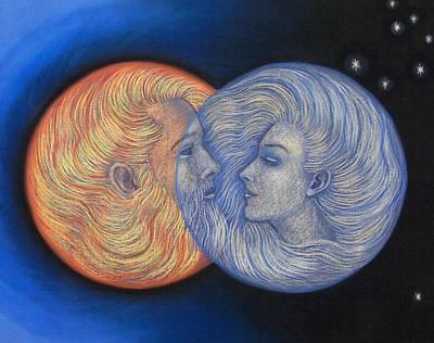 Solar Eclipse Print by Sue Halstenberg