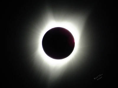 Photograph - Solar Eclipse Totality Corona 2017 by Wendy McKennon