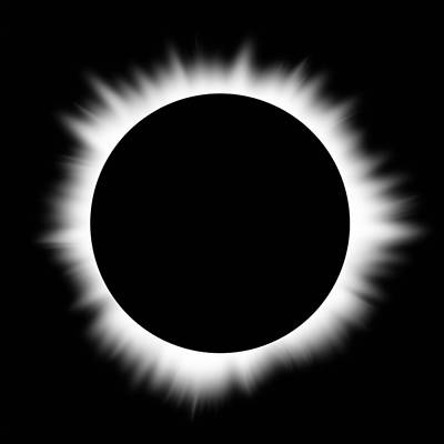 Solar Eclipse With Corona Art Print