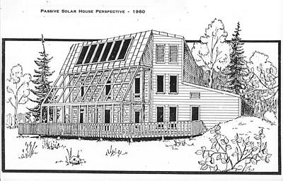 Drawing - Solar House by Ron Bissett