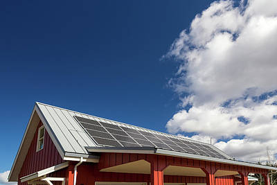 Photograph - Solar Panels On Red House Rooftop by Jit Lim
