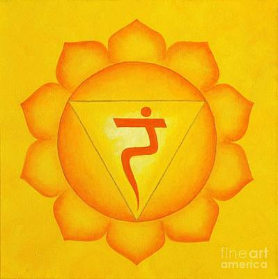 Wall Art - Painting - Solar Plexus Chakra by Anna Martinsen