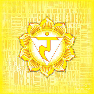 Digital Art - Solar Plexus Chakra - Awareness by David Weingaertner
