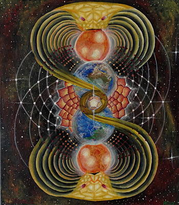 Golden Mean Painting - Solar Prayer by Justin Struble
