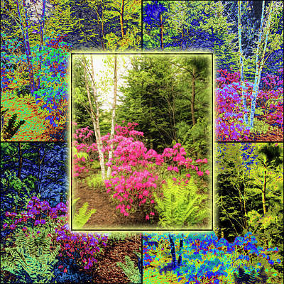 Photograph - Solarized Rhododendron by Mike Braun