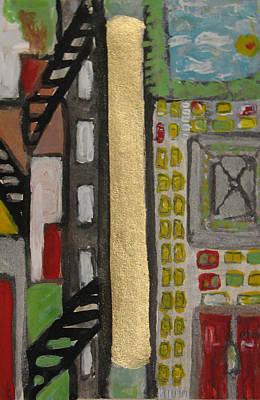 Painting - Sold - Map Ny by Krisztina Asztalos