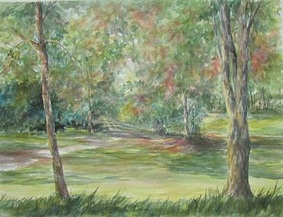 Painting - Sold River Nature Trails by Gloria Turner