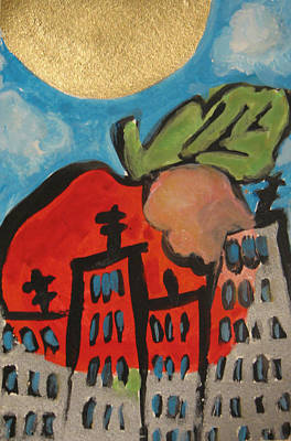 Painting - Sold- The Big Apple Ny II  by Krisztina Asztalos