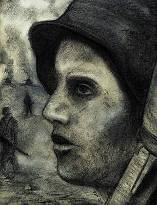 Battlefield Mixed Media - Soldat by Philip Harvey