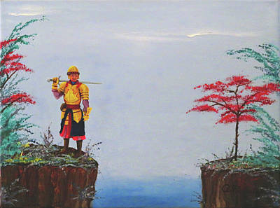Painting - Soldier By Gorge by Robert Marquiss