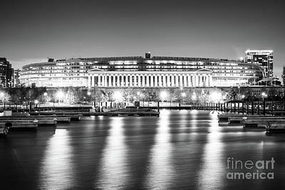 Soldier Field Wall Art - Photograph - Soldier Field Black And White Photo by Paul Velgos