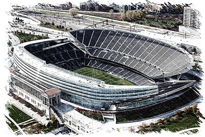 Soldier Field Mixed Media - Soldier Field Chicago Sports 06 Pa by Thomas Woolworth