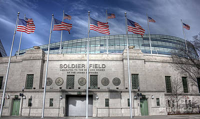 Soldier Field Art Print by David Bearden