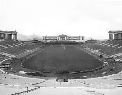 Photograph - Soldier Field In Chicago by Underwood Archives