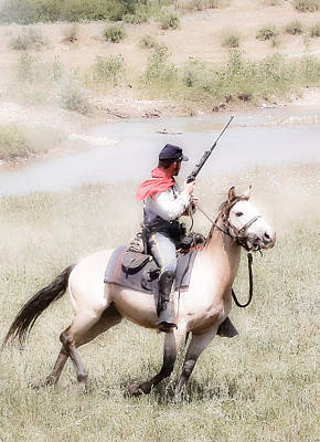 Photograph - Soldier On His Horse by Athena Mckinzie