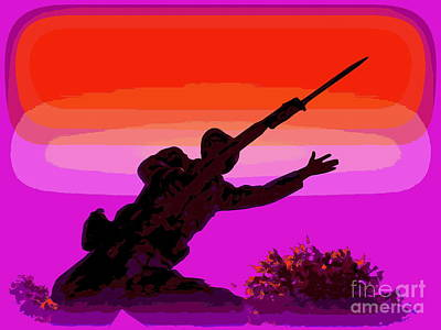 Photograph - Soldier Silhouette #1 by Ed Weidman