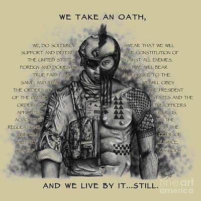 Soldier Warrior Khaki - Oath Art Print by Alina Davis
