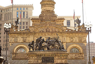 Photograph - Soldiers And Sailors Monument Study 3 by Robert Meyers-Lussier