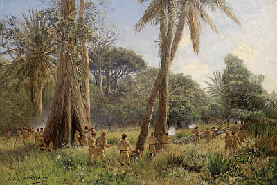 Painting - Soldiers In Africa by Themistokles von Eckenbrecher
