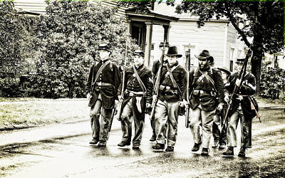 Soldiers Marching In Parade Art Print by Rena Trepanier