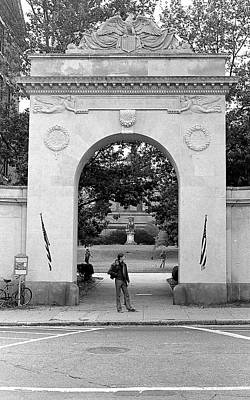 Photograph - Soldiers Memorial Gate, Brown University, 1972 by Jeremy Butler