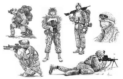 Soldiers Art Print by Murphy Elliott