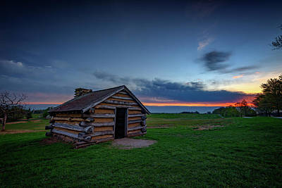 Cabins Photograph - Soldier's Quarters At Valley Forge by Rick Berk