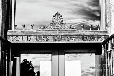 Photograph - Soldiers Sailors - Bw by Scott Pellegrin
