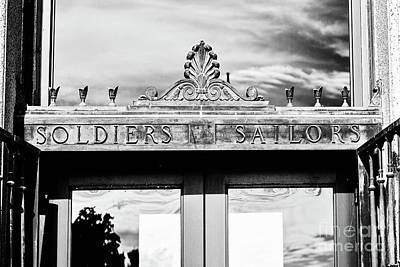 Photograph - Soldiers Sailors - Bw by Scott Pellegrin