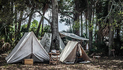 Photograph - Soldiers Tents Civil War by Debra Forand