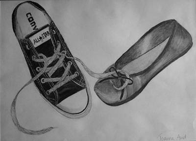 Drawing - Sole Mates by Joanna Aud