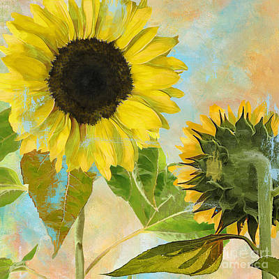 Sunflower Painting - Soleil I Sunflower by Mindy Sommers